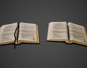 3D model Open Books Low Poly Game Ready