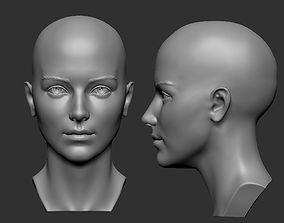 Female head 5 3D print model