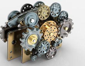 Gear mechanism v 2 3D model