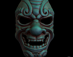 3D model japanese stylized mask Pbr textured