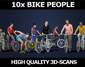 3D model Scanned Gobotree Bicycle Foreground People Volume
