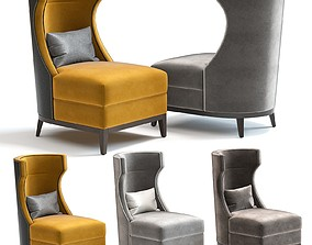 3D model The Sofa and Chair Co - Parker Armchair