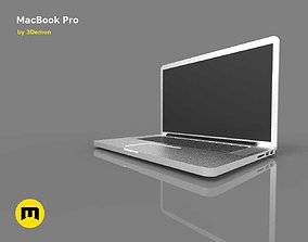 3D asset MacBook Pro computer