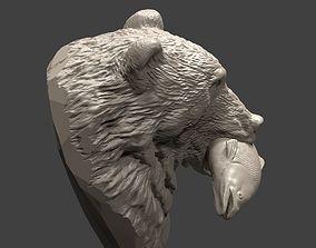 Bear and salmon 1 bear 3D printable model