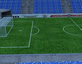 soccer stadium architectural 3D model