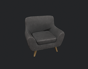 3D asset Dark Grey Armchair