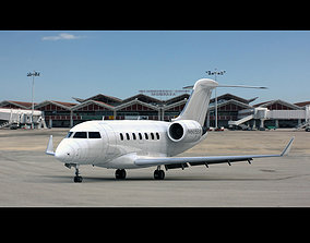 3D model Bombardier Challenger 605 Generic White