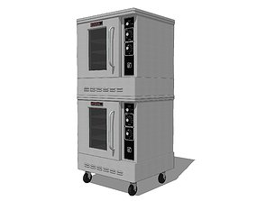3D Restaurant Convection Oven with Opening