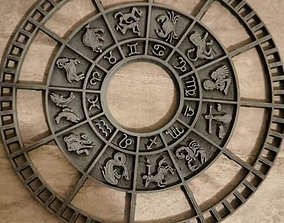 cadran zodiacal pour horloge ou diorama 3D print model 1