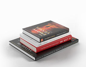 Stack of Books 01 3D