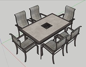 3D asset Exterior Garden Table