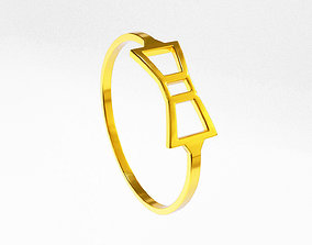 3D printable model Bow tie ring