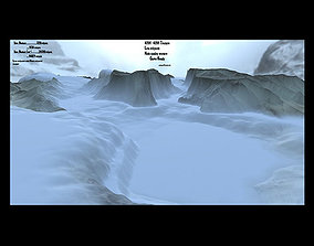 snow mountain volcano 3D asset realtime