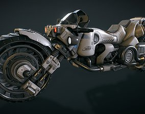 Futuristic motorcycle 3D asset realtime