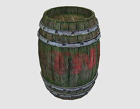 3D asset Barrel TNT