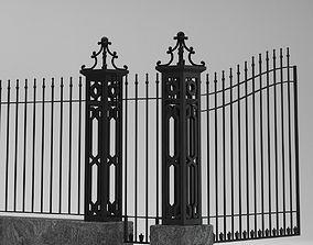 3D model Fence Railing Gate street Park