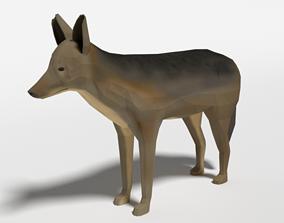 3D model Low Poly Cartoon Jackal