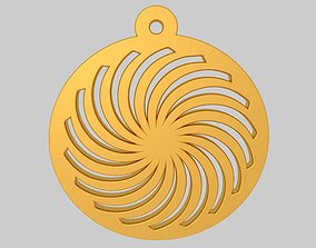 Spiral Die Cutting Pendant Jewelry KTPD01 3D Model STL