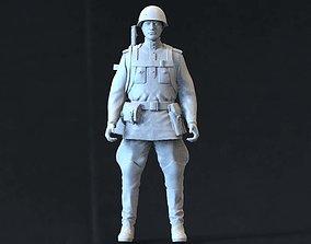 Soviet soldier 3D printable model