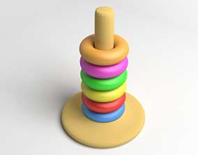 3D Tower Rings Toddler Toy