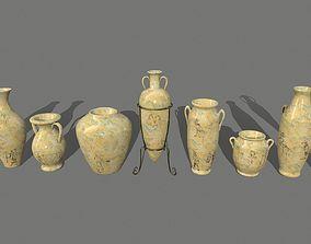 3D model realtime vase set