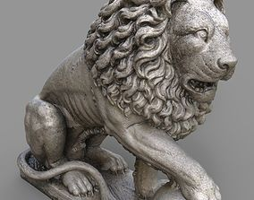 Gatekeeper Lion Guardian Statue 3D model