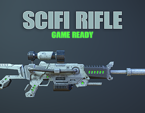 3D model Scifi Rifle Game Ready