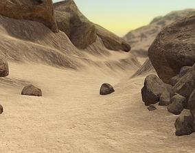 PBR Desert Landscape 3D model