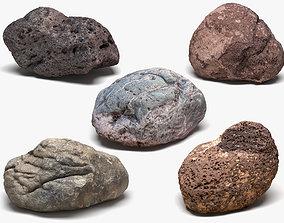 5 Desert Rocks 3D model 8k