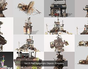 Set Of Post-Apocalyptic Objects 3D model