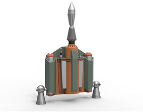 Boba Fett Jetpack from Star Wars The 3D printable model 3