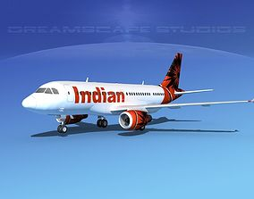 Airbus A319 Indian Airlines 3D model