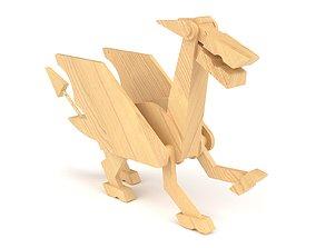 3D model Wooden toy dragon 02