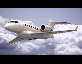 3D Bombardier Challenger 605 Generic White