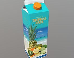 3D asset Tropical Juice