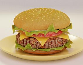 3D model Hamburger