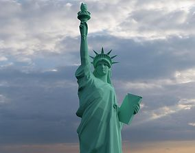 Statue of Liberty 3D asset low-poly