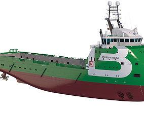 vessel Platform Supply Vessel BOURBON FRONT 3D model