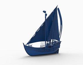 Amati Nina Wooden ship 3D print model