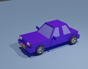3D printable model low poly car