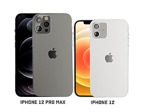 3D model iPhone 12 and iPhone 12 pro max