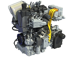Volkswagen XL1 Engine 3D