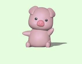3D printable model A Cute Pig for decoration and play