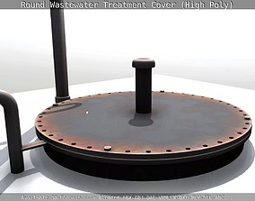 3D model Round Wastewater Treatment Cover High-Poly