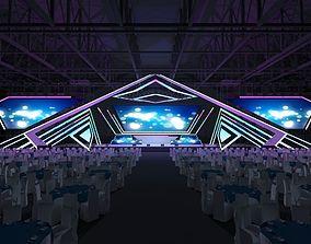 Stage concert 3D model