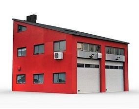 Industrial Building 4 3D asset