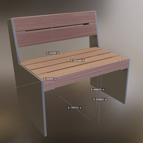 Park Bench 8 Teak Gray Metal Frame 1