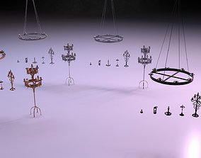Candle Lighting Pack - The Marquis 3D asset