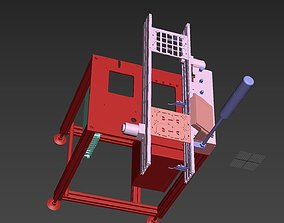 PCB assembly line 3D model