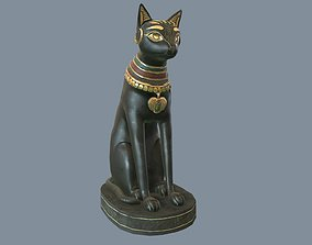 3D asset Egyptian Cat Statue
